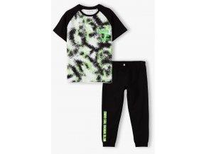 Chlapecké černé pyžamo krátký rukáv a dlouhé nohavice