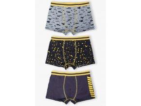 Chlapecké boxerky s potiskem - 3 kusy v balení