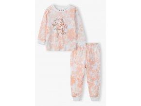 Dívčí melírované pyžamo dlouhý rukáv Jednorožec