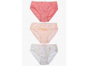 Dívčí kalhotky Kytičky - 3 kusy v balení