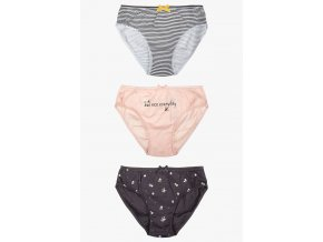 Bavlněné dívčí kalhotky - 3 kusy v balení