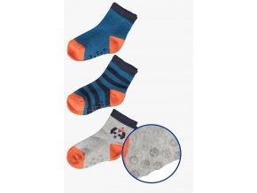 Chlapecké protiskluzové ponožky - 3 páry v balení