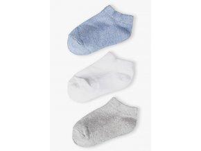 Chlapecké krátké ponožky jednobarevné - 3 páry