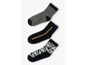 Chlapecké army ponožky - 3 páry v balení