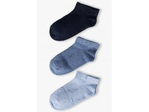 Chlapecké krátké jednobarevné ponožky - 3 páry v balení