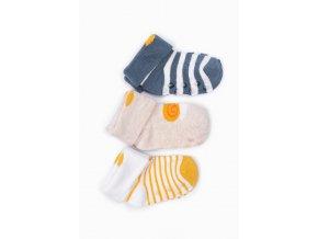 Kojenecké protiskluzové ponožky se šnečkem - 3 páry