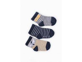 Kojenecké protiskluzové ponožky s letadlem - 3 páry