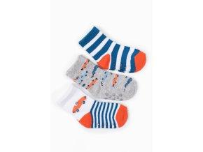 Kojenecké protiskluzové ponožky s autíčky - 3 páry