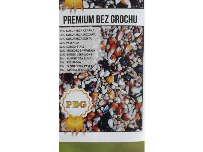 Závodní směs pro holuby - PBG - Premiová letová  bez hrachu +černá kukuřice 25kg