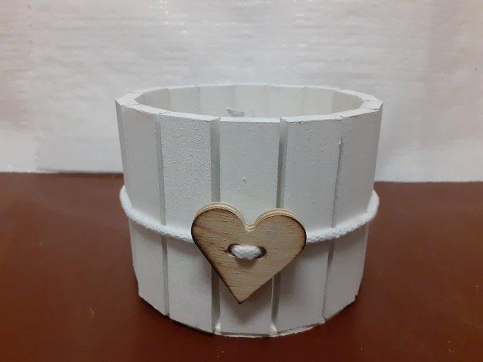 Dekorační miska bílá ze srdíčkem 13,5cm