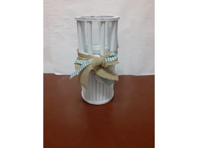 Dekorační Lampa kulatá bílá 30cm