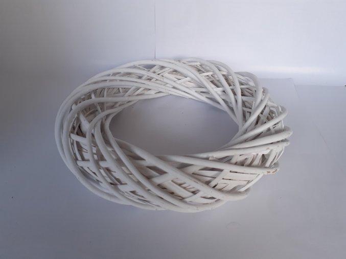 Věnec proutěný bílý 40cm