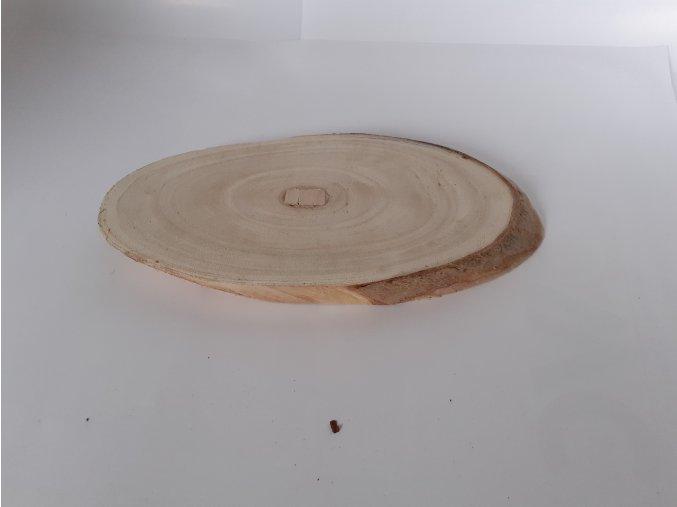 Dekorační deska dřevěná oválná 25cm