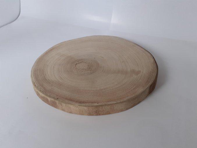 Dekorační deska dřevěná kulatá 27cm