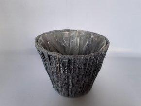 Obal na květináč šedý 15cm