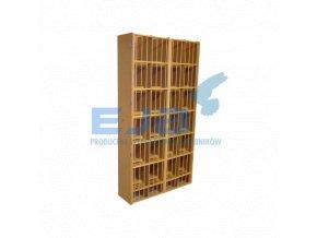 Regál pro vdovy s dřevěným roštem 24 stání