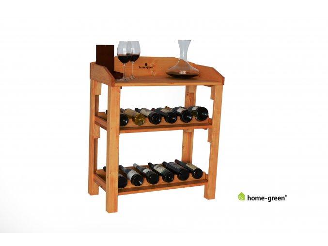 Dřevěná domácí vinotéka - Pinie