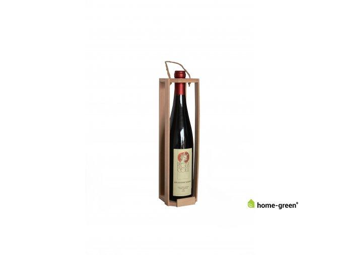 Dřevěná odnoska na 1 láhev vína