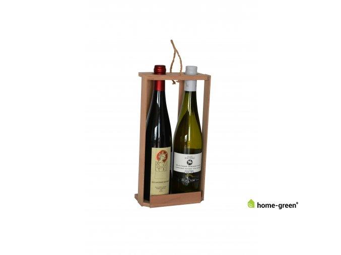 Dřevěná odnoska na 2 láhve vína