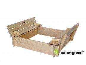 Dřevěné dětské pískoviště se sedátky