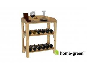Dřevěná domácí vinotéka - Natur