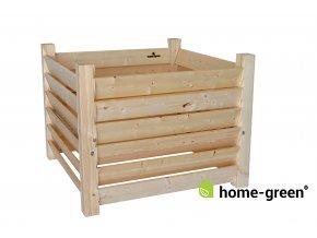 Dřevěný kompostér deskový se sloupky