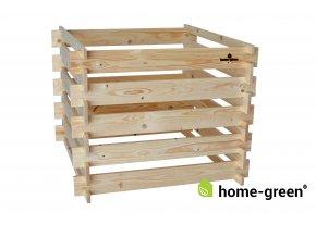 Dřevěný kompostér deskový