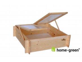 Dřevěné pařeniště s polykarbonátem