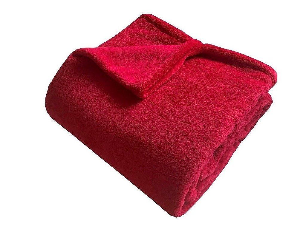 Super soft deka Dadka červená 150x200 cm