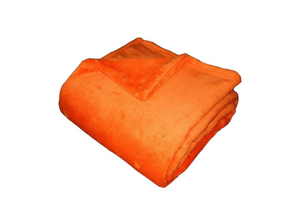 Super soft deka Dadka oranžová 150x200 cm