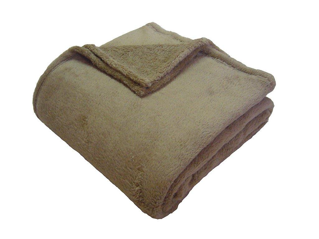 Super soft deka Dadka středně hnědá 150x200 cm