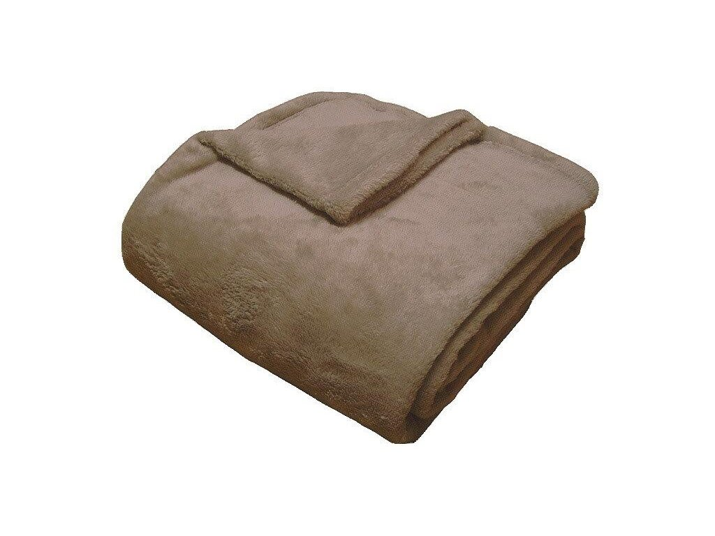 Super soft deka Dadka tmavě béžová 150x200 cm