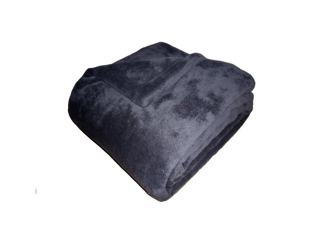 Super soft deka Dadka tmavě šedá 150x200 cm
