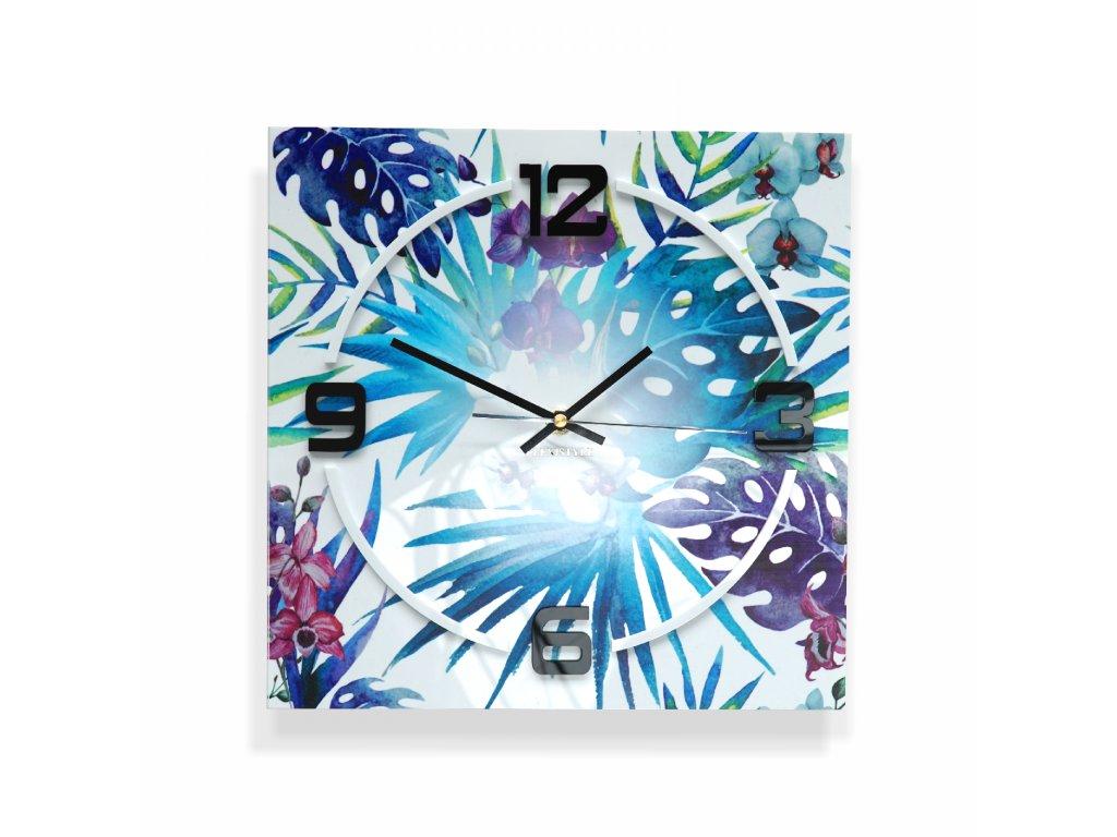 Nástěnné hodiny filodendron