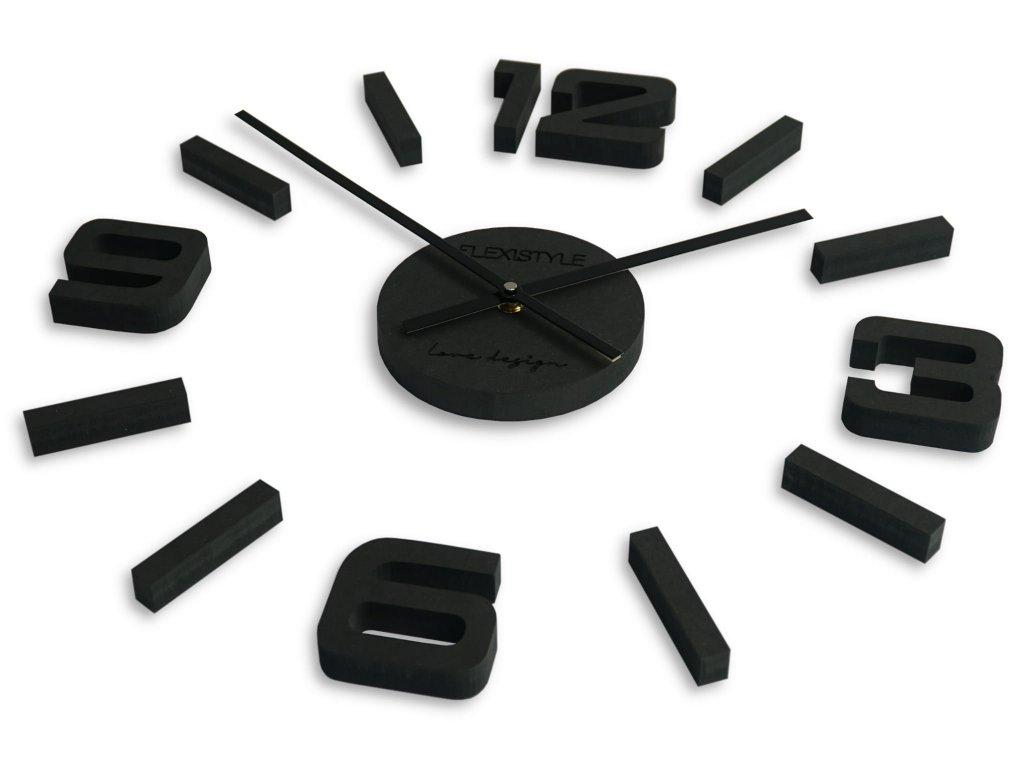 Velké nástěnné hodiny EKO STICK ČERNÉ  - 75 cm