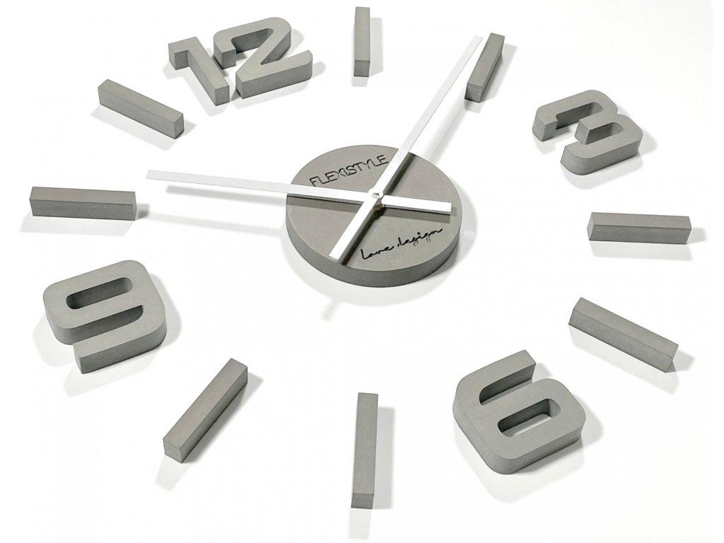 Velké nástěnné hodiny EKO STICK šedé