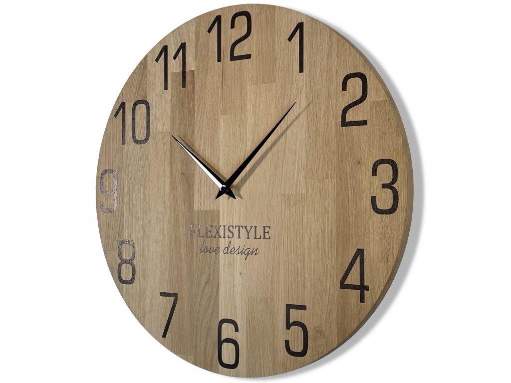 Dřevěné nástěnné hodiny NATUR