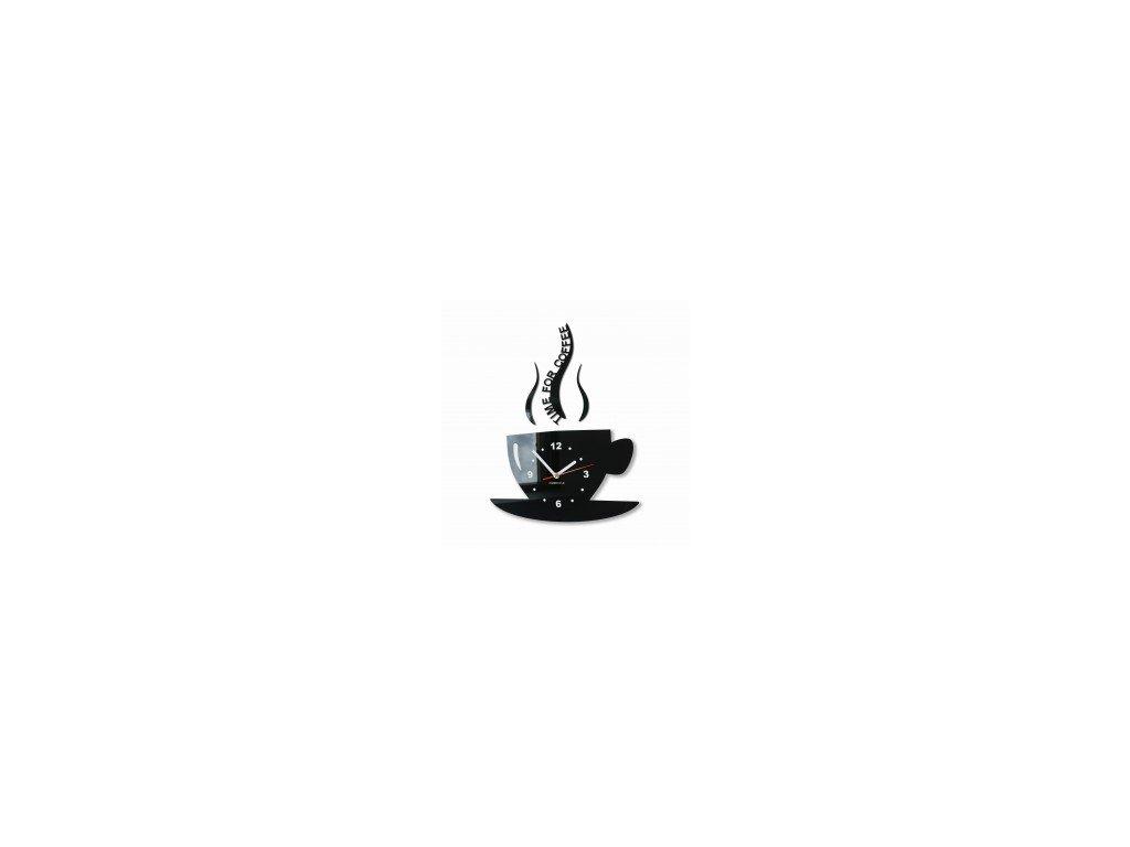 Nástěnné hodiny šálek Černé