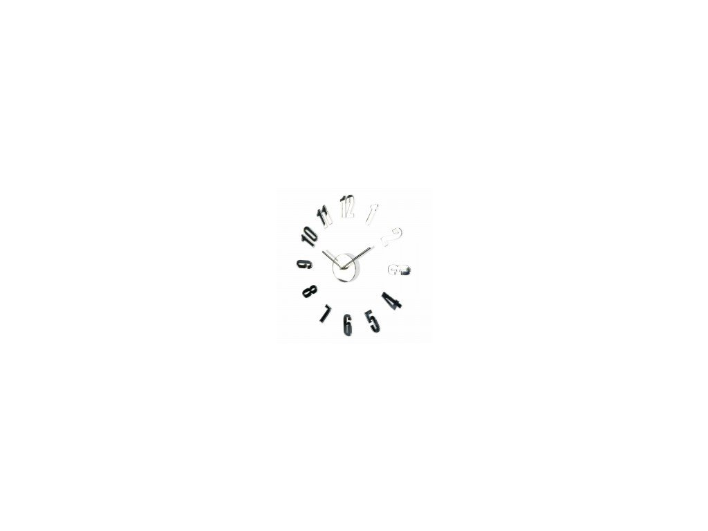 Nástěnné hodiny DIY Admirable1 50-75cm zrcadlové Stříbrné