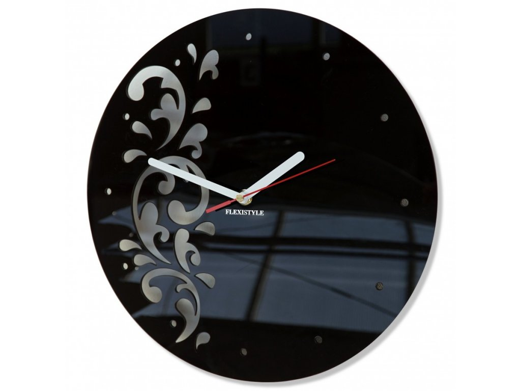 Designové hodiny FLORA Černé