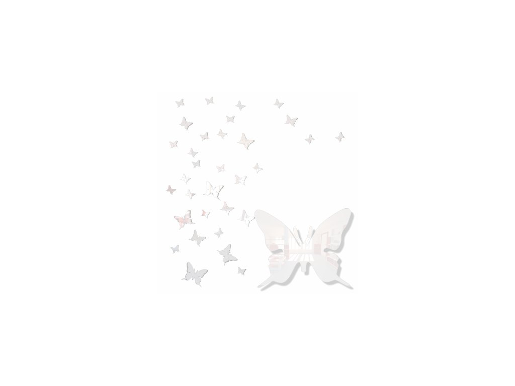 Nástěnná dekorace motýlek bílý