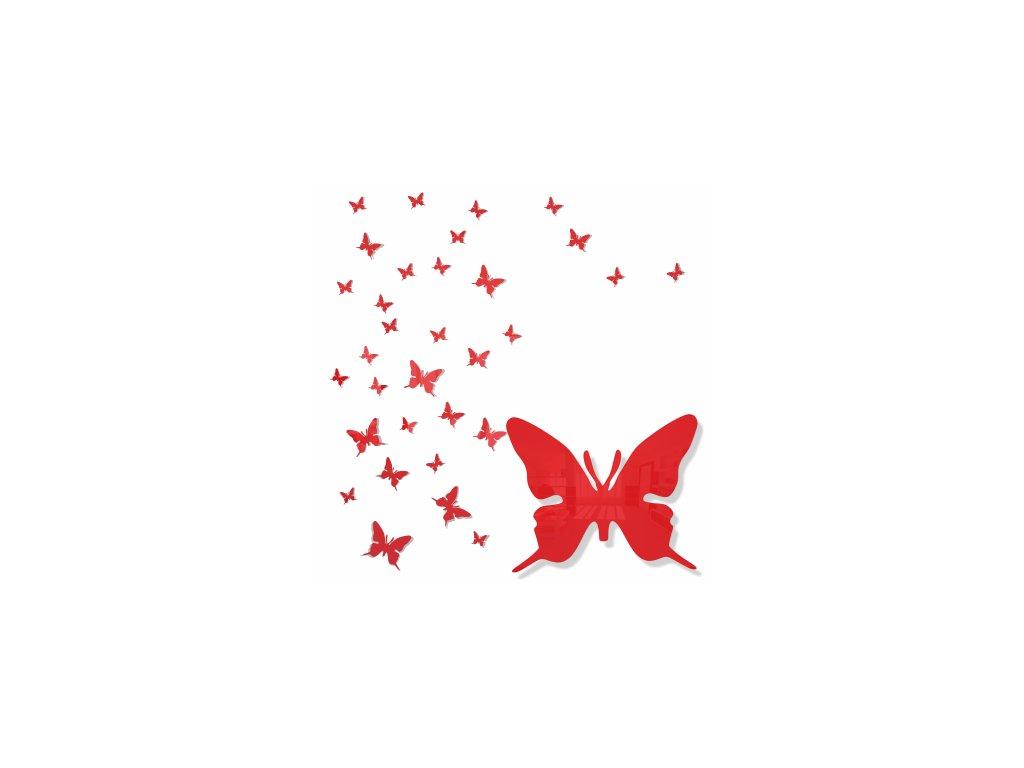 Nástěnná dekorace motýlek červený
