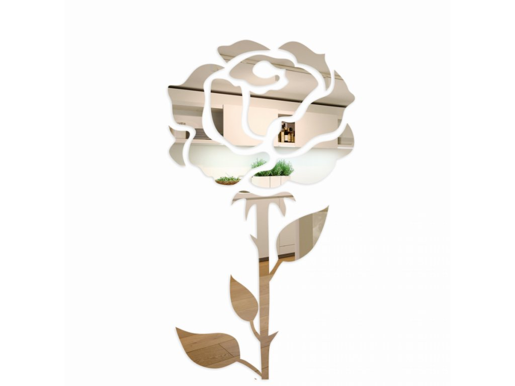 Nástěnná zrcadlová dekorace 150cm Růže 1