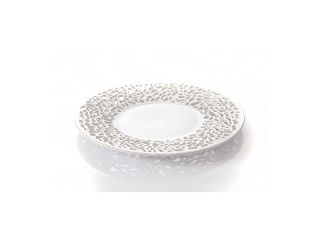 Keramický talíř SANDRA 37 cm Bílá