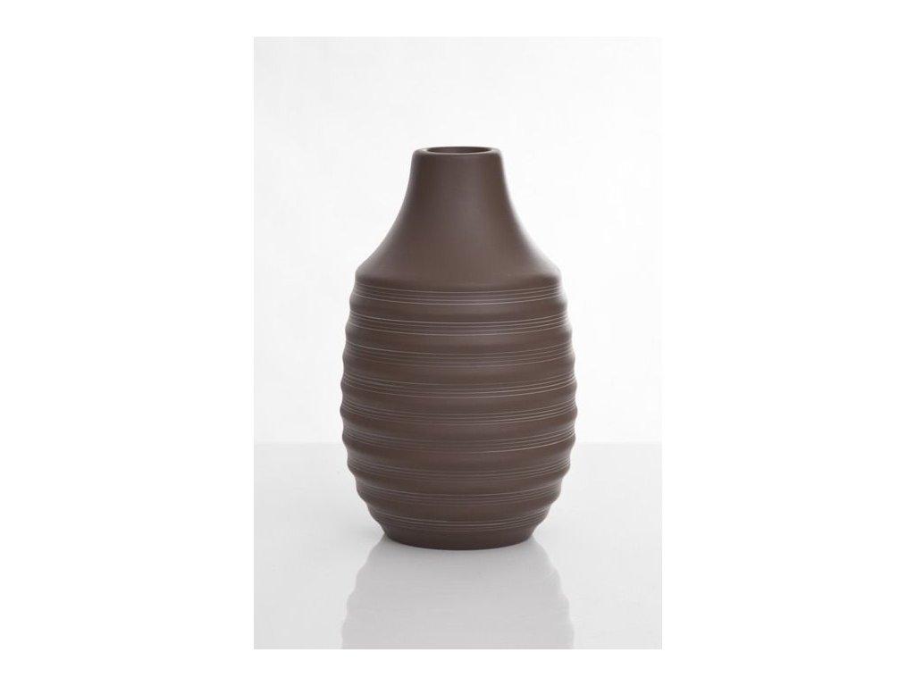 Váza PRIME hnědá 26 cm Hnědá