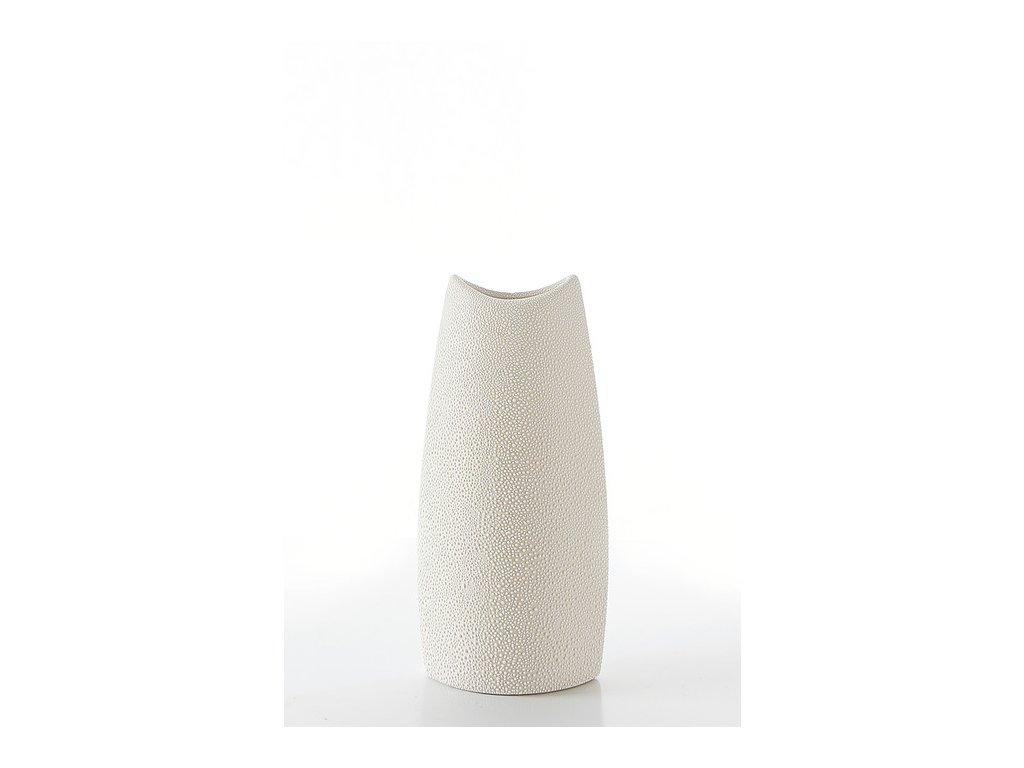 Keramická váza RISO 11 krémová - 26 cm