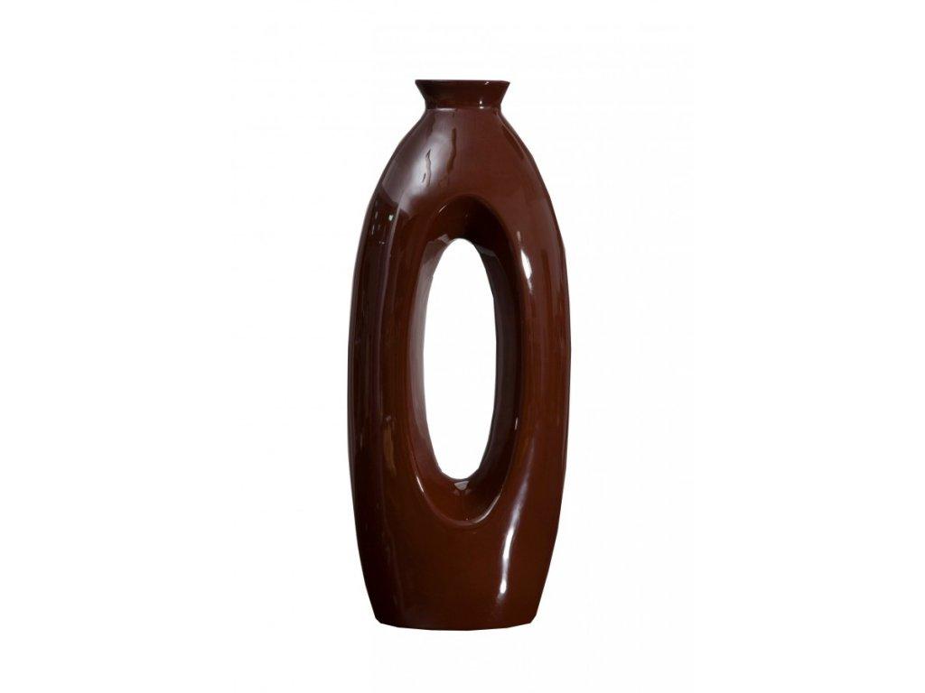Keramická váza TANGO 06 Hnědá 45 cm