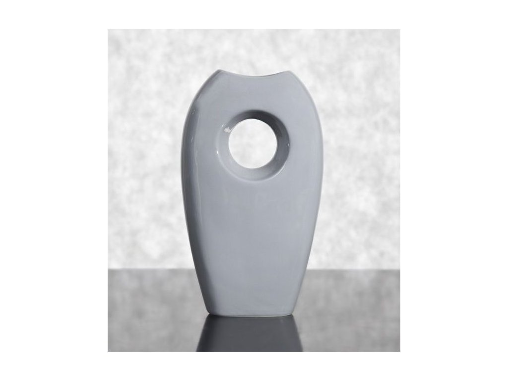 Keramická váza TANGO 21 Šedá 45 cm