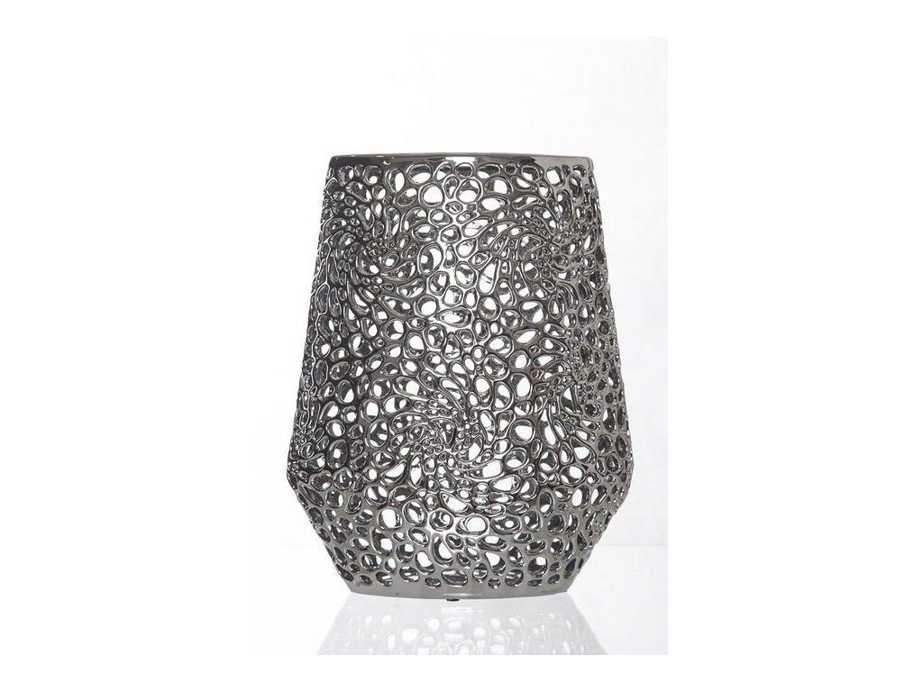 Váza SANDRA stříbrná OVÁL