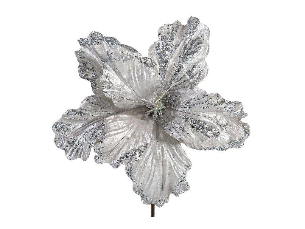 Vánoční květ šedostříbrný 68 POPI